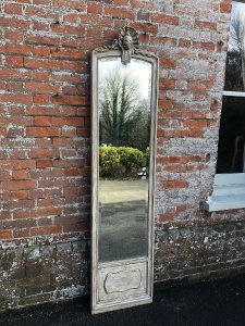 Decorative mirrors at Cleall Antiques, West Sussex, UK