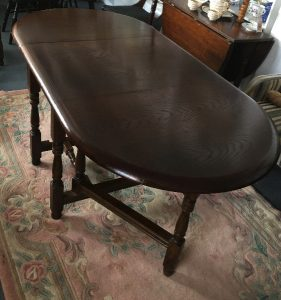 Antique Oak Table. Antique Large Gateleg Table. c.1800s