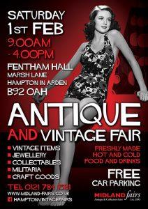 Midland Vintage And Antique Fair Saturday 1st February 2020