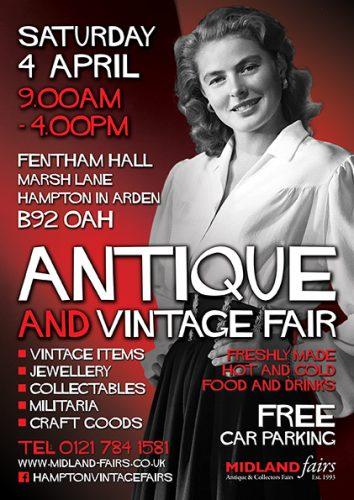 Midland Vintage And Antique Fair Saturday 4th April 2020